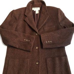 Eddie Bauer 100% Wool, Chocolate Brown Blazer